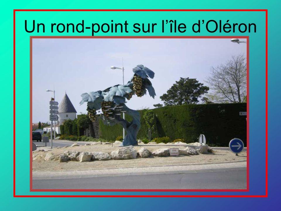 Un rond-point sur l'île d'Oléron