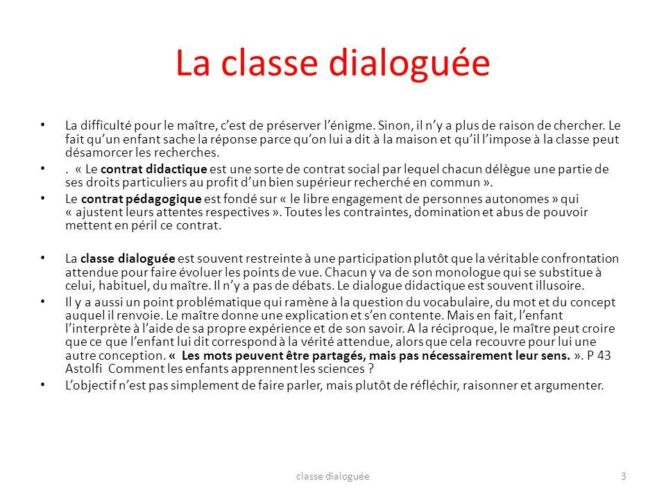 La classe dialoguée