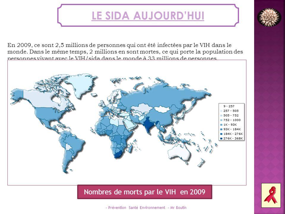 Nombres de morts par le VIH en 2009