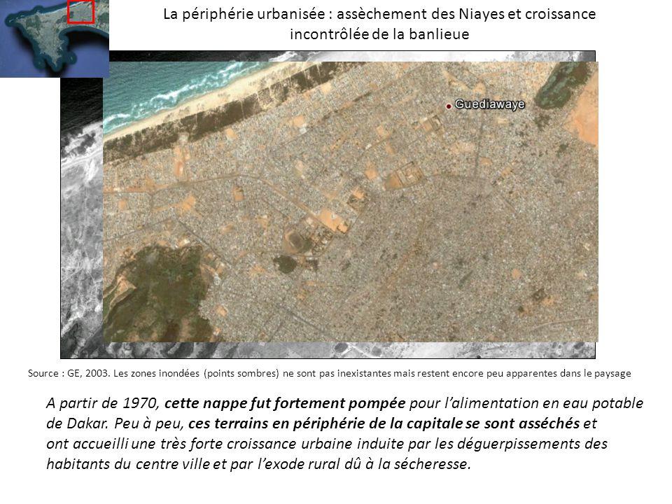 La périphérie urbanisée : assèchement des Niayes et croissance incontrôlée de la banlieue