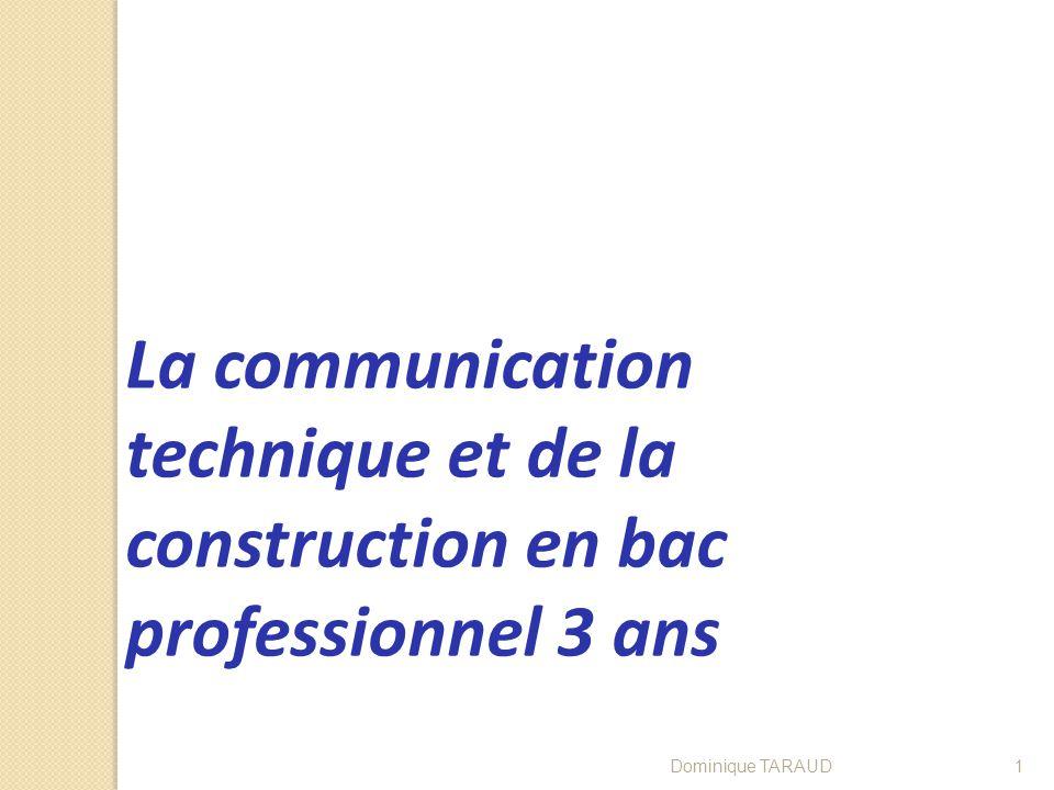 La communication technique et de la construction en bac professionnel 3 ans