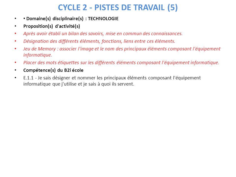 CYCLE 2 - PISTES DE TRAVAIL (5)