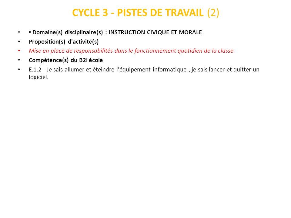 CYCLE 3 - PISTES DE TRAVAIL (2)