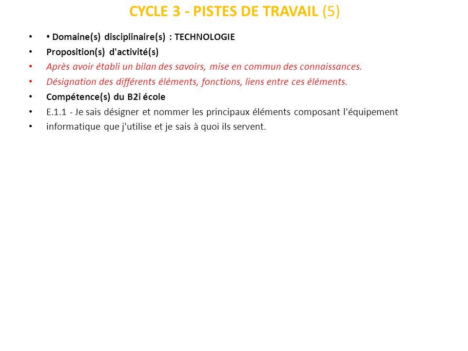 CYCLE 3 - PISTES DE TRAVAIL (5)