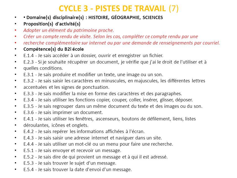 CYCLE 3 - PISTES DE TRAVAIL (7)