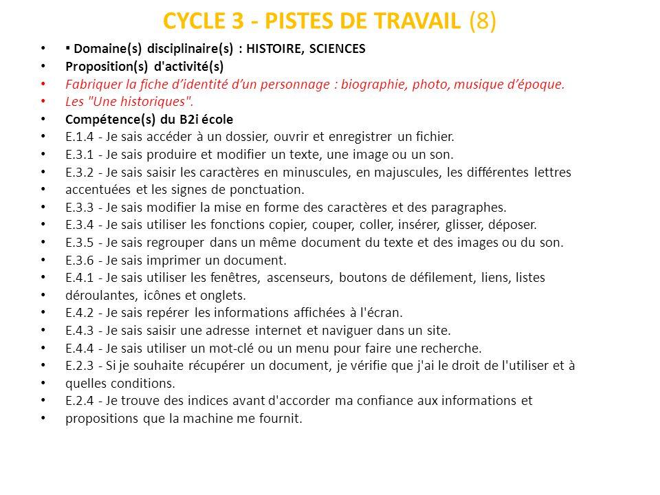 CYCLE 3 - PISTES DE TRAVAIL (8)