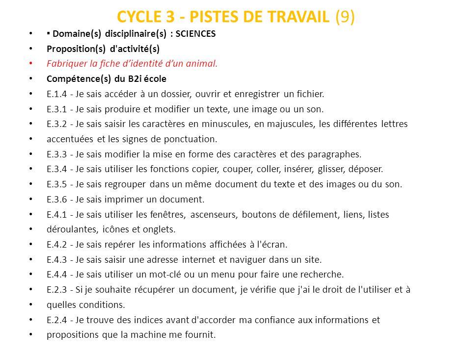 CYCLE 3 - PISTES DE TRAVAIL (9)