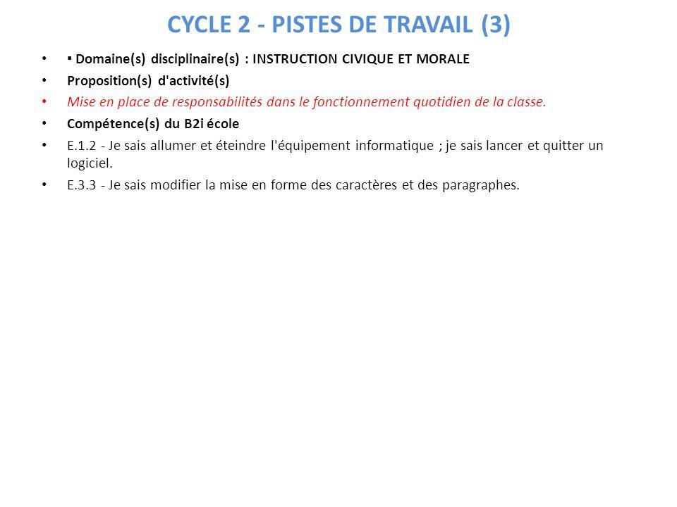 CYCLE 2 - PISTES DE TRAVAIL (3)