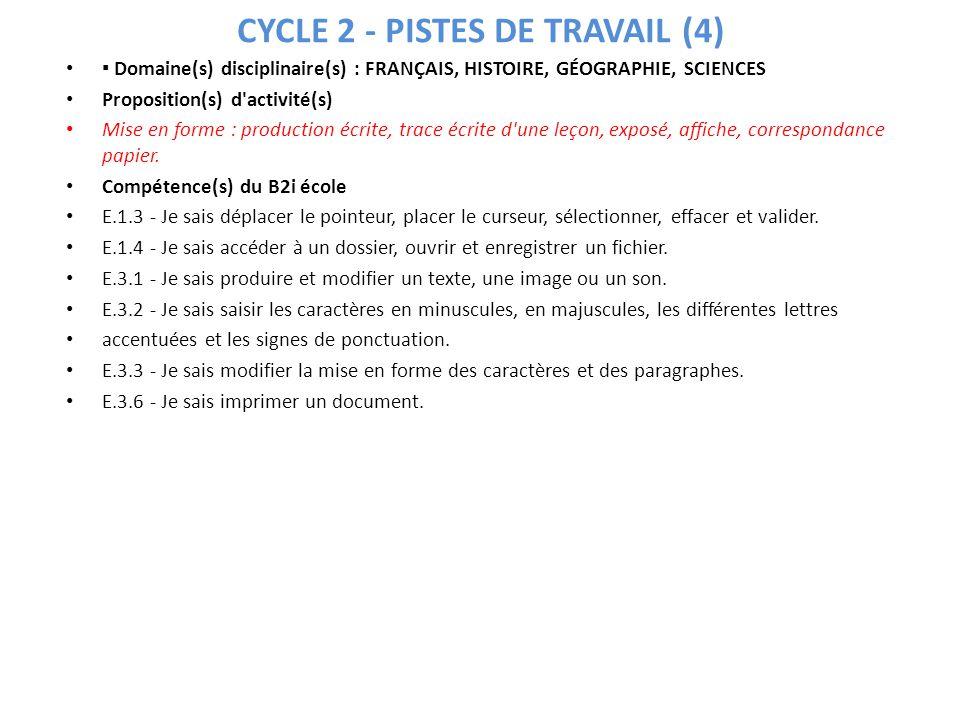CYCLE 2 - PISTES DE TRAVAIL (4)
