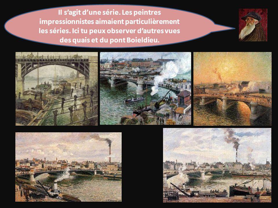 Il s'agit d'une série. Les peintres impressionnistes aimaient particulièrement les séries.