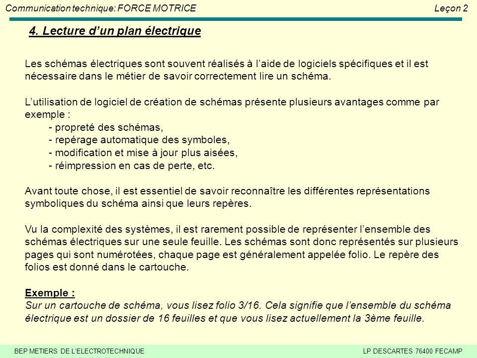 4. Lecture d'un plan électrique