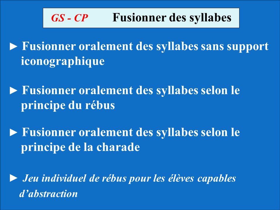 GS - CP Fusionner des syllabes