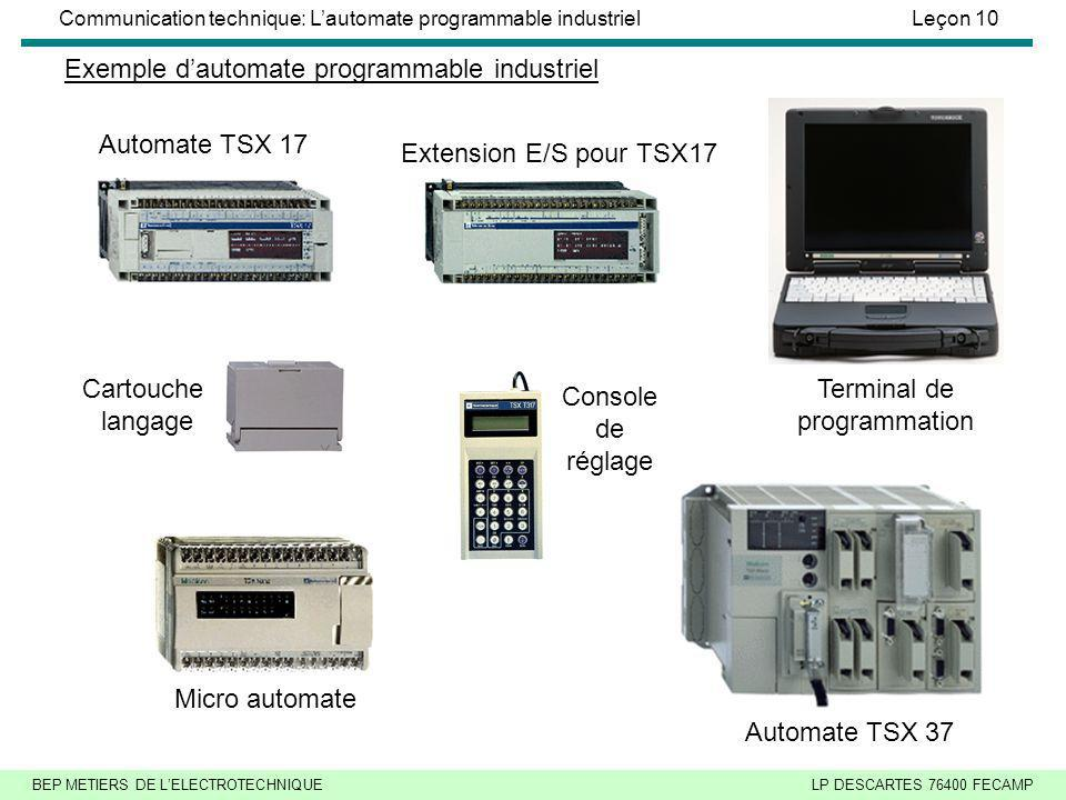 Exemple d'automate programmable industriel