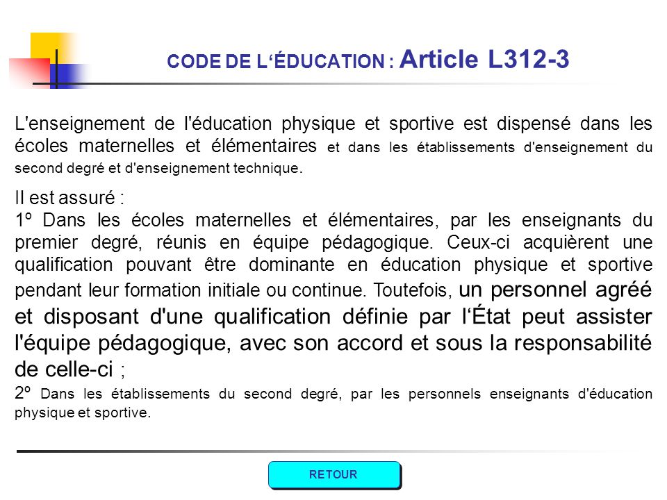 CODE DE L'ÉDUCATION : Article L312-3