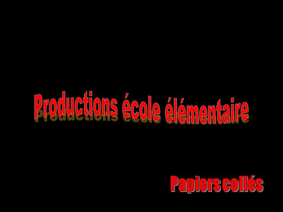 Productions école élémentaire