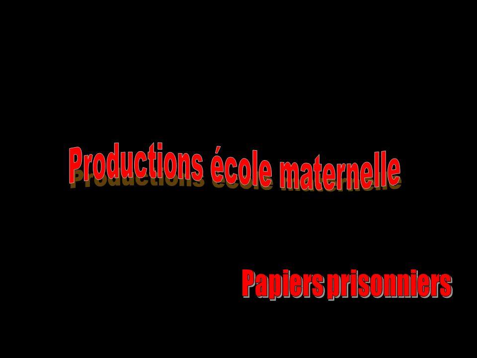 Productions école maternelle