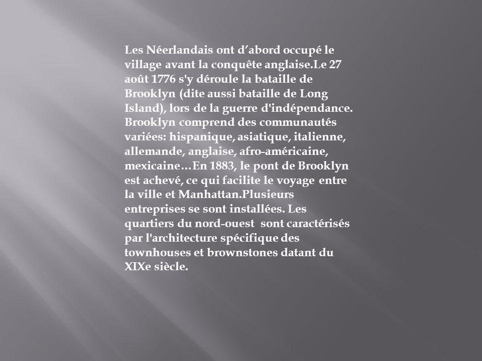 Les Néerlandais ont d'abord occupé le village avant la conquête anglaise.Le 27 août 1776 s y déroule la bataille de Brooklyn (dite aussi bataille de Long Island), lors de la guerre d indépendance.