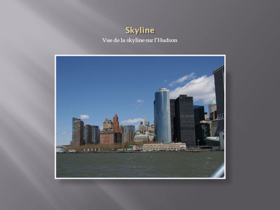 Vue de la skyline sur l'Hudson