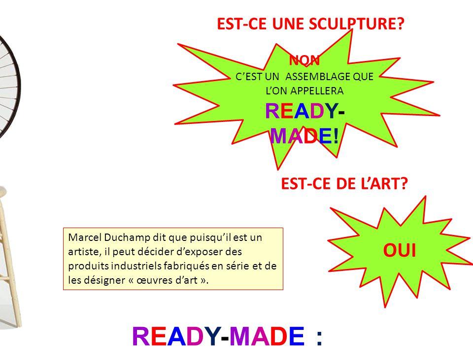 READY-MADE : « déjà fait »