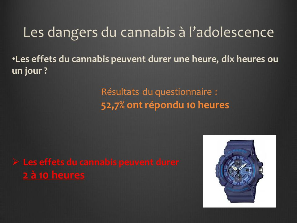Les dangers du cannabis à l'adolescence