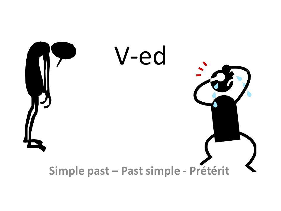 Simple past – Past simple - Prétérit