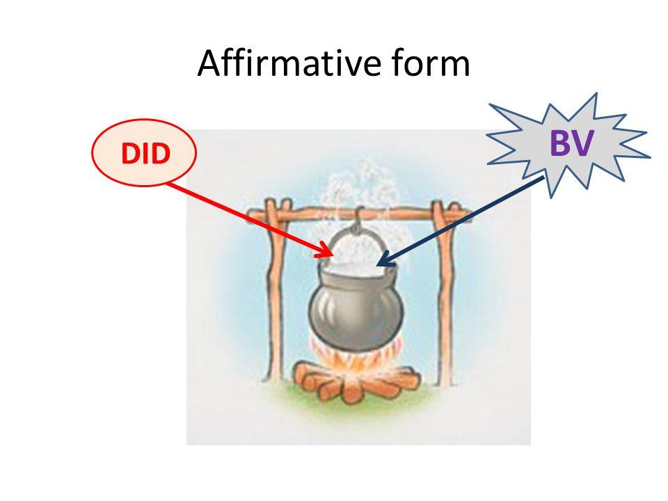 Affirmative form BV DID