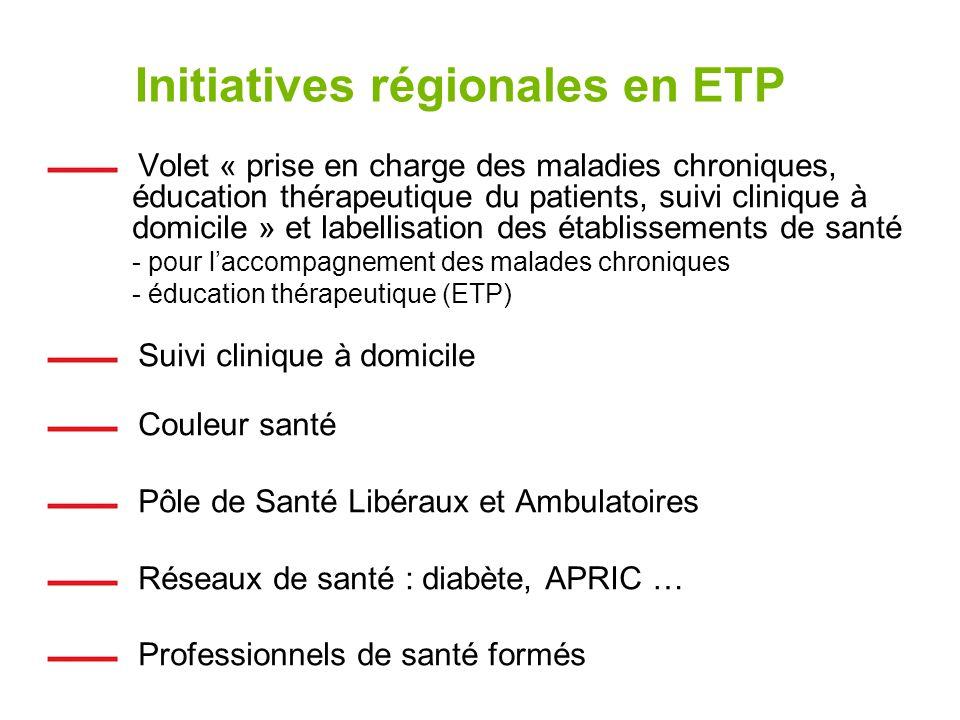 Initiatives régionales en ETP