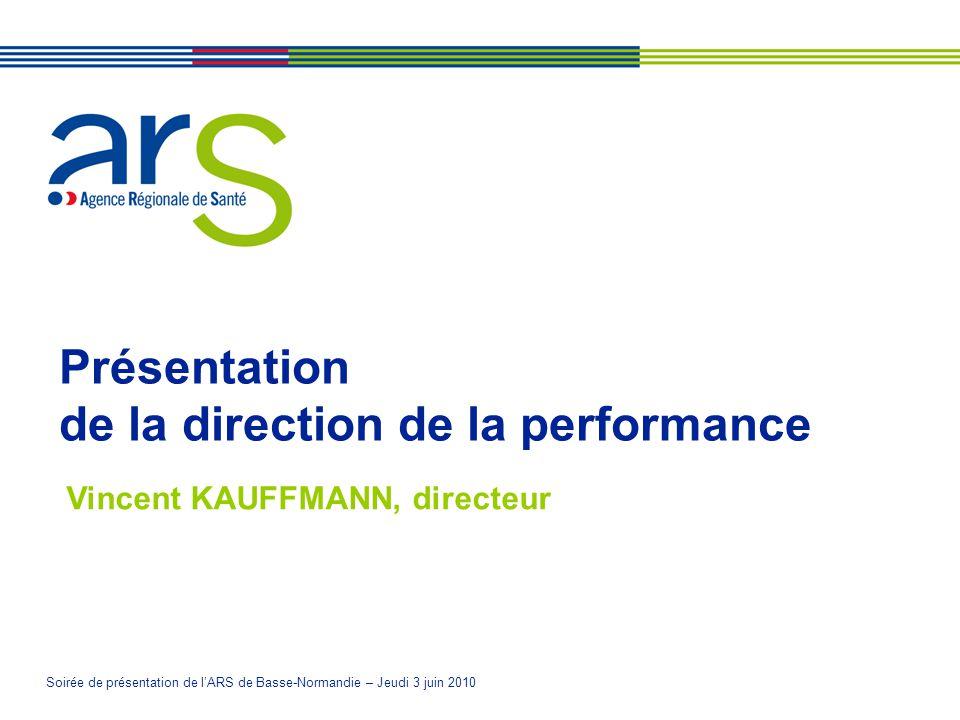 Présentation de la direction de la performance