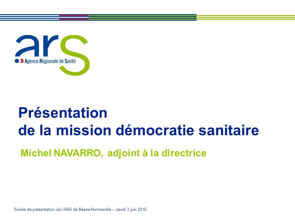 Présentation de la mission démocratie sanitaire