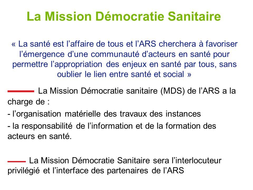 La Mission Démocratie Sanitaire