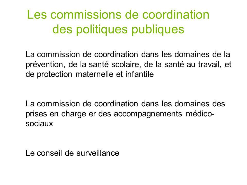 Les commissions de coordination des politiques publiques