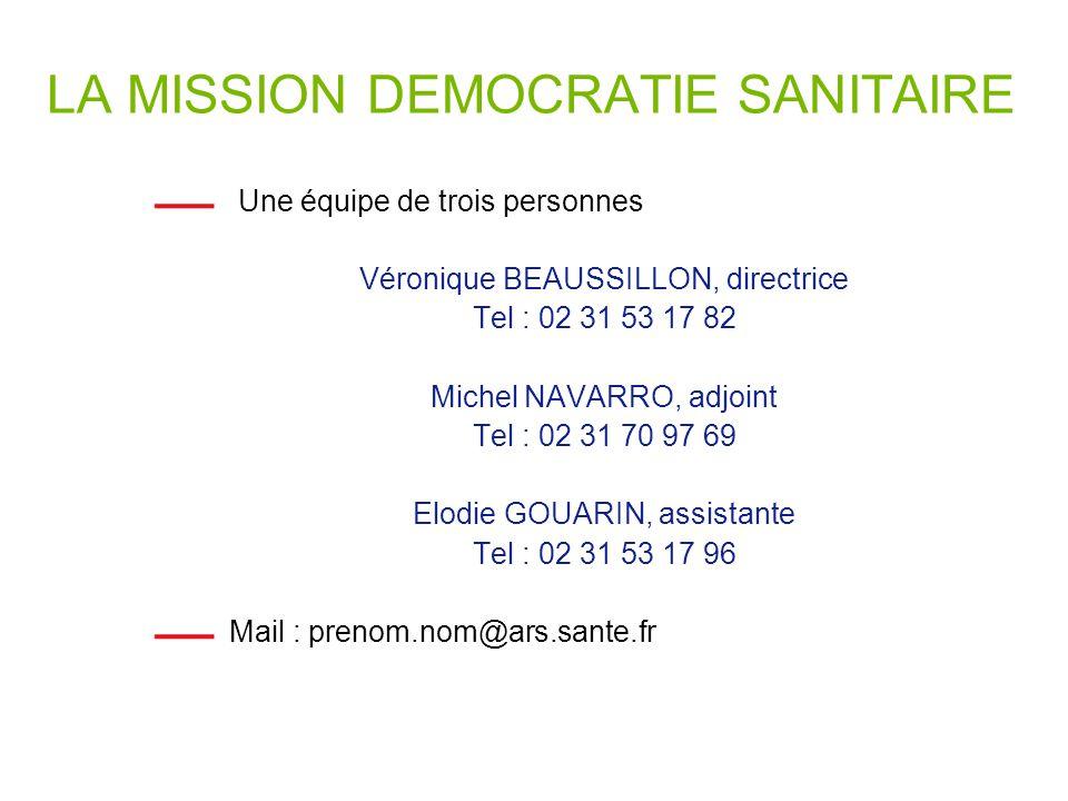 LA MISSION DEMOCRATIE SANITAIRE