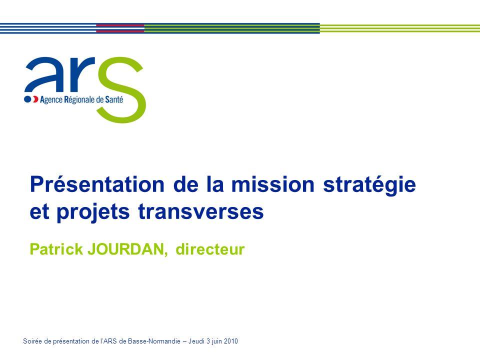 Présentation de la mission stratégie et projets transverses
