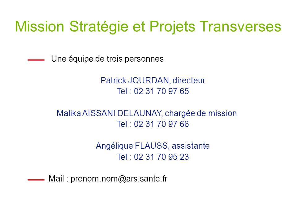 Mission Stratégie et Projets Transverses