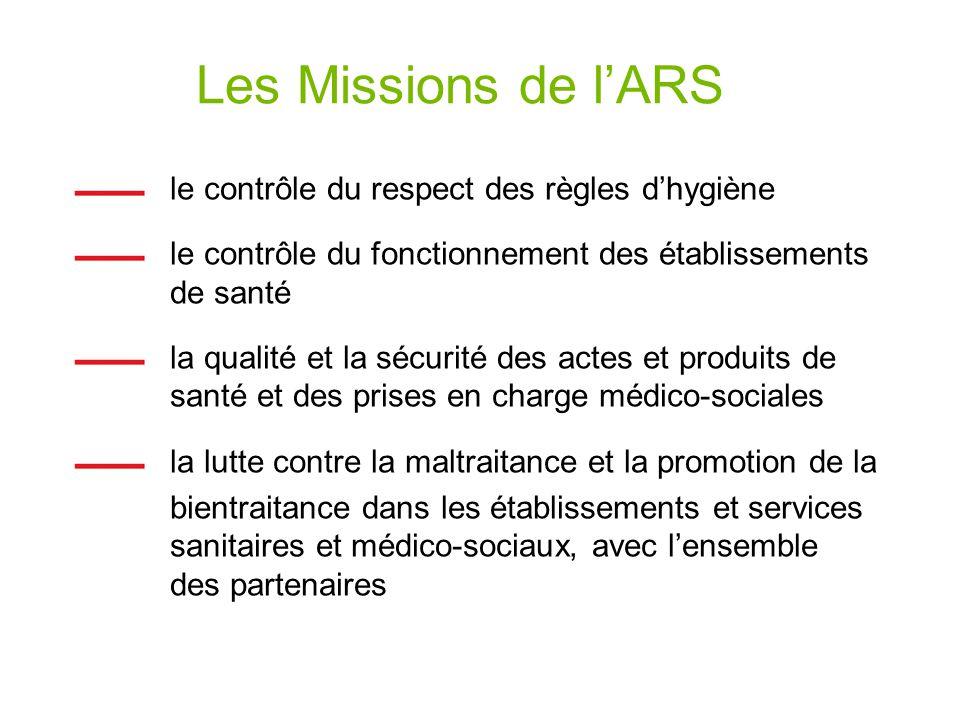 Les Missions de l'ARS le contrôle du respect des règles d'hygiène