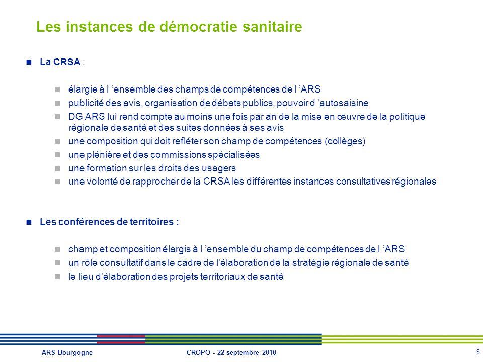 Les instances de démocratie sanitaire