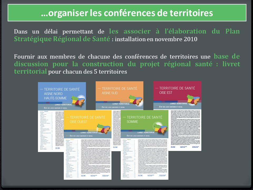 …organiser les conférences de territoires