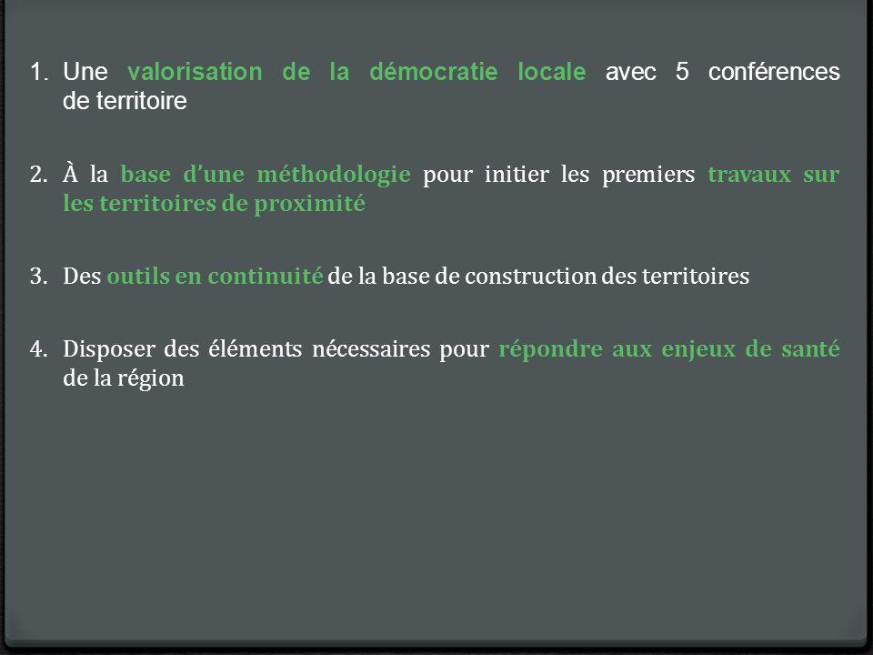 Une valorisation de la démocratie locale avec 5 conférences de territoire