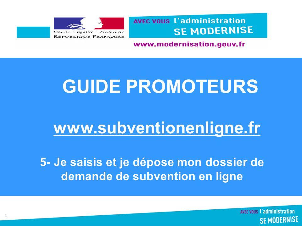 GUIDE PROMOTEURS www.subventionenligne.fr
