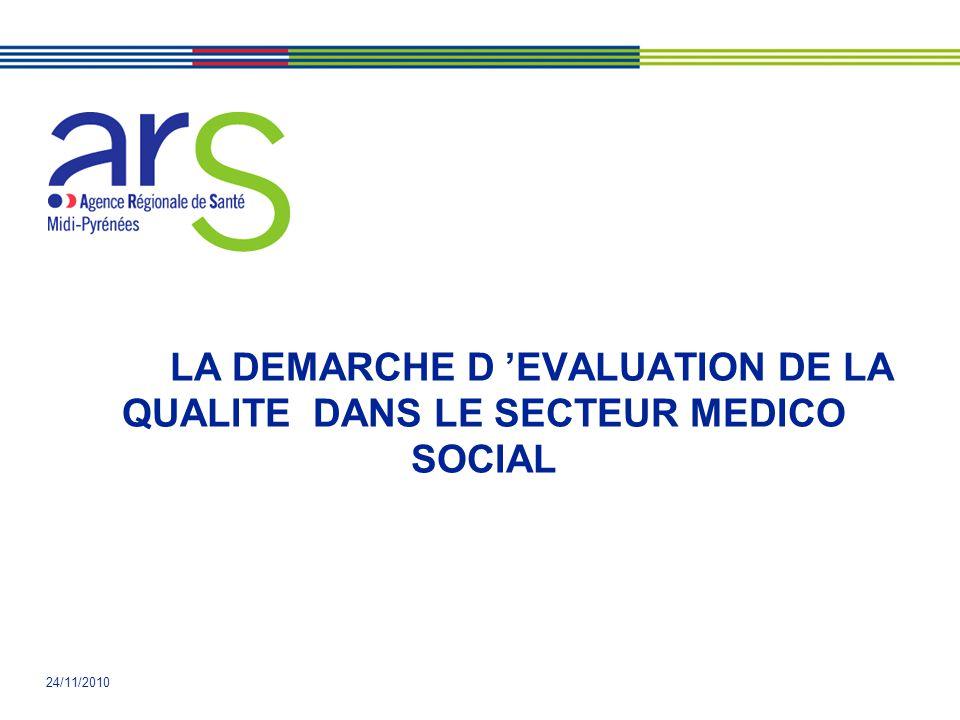 LA DEMARCHE D 'EVALUATION DE LA QUALITE DANS LE SECTEUR MEDICO SOCIAL