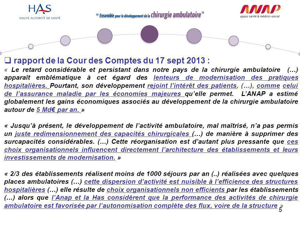 rapport de la Cour des Comptes du 17 sept 2013 :