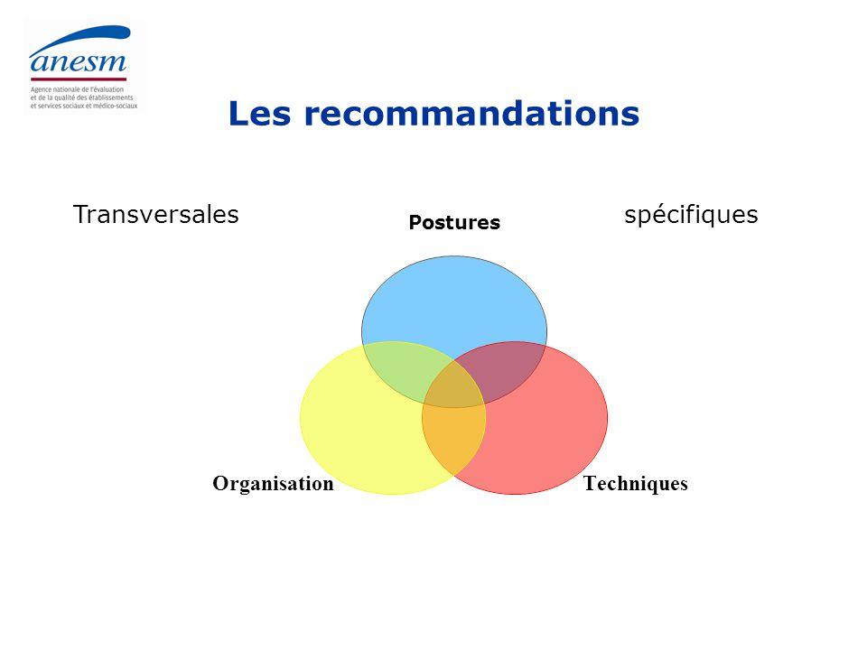 Les recommandations Transversales spécifiques