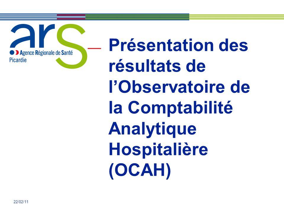 Présentation des résultats de l'Observatoire de la Comptabilité Analytique Hospitalière (OCAH)