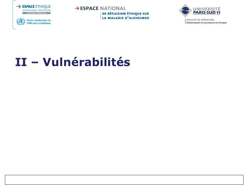 II – Vulnérabilités