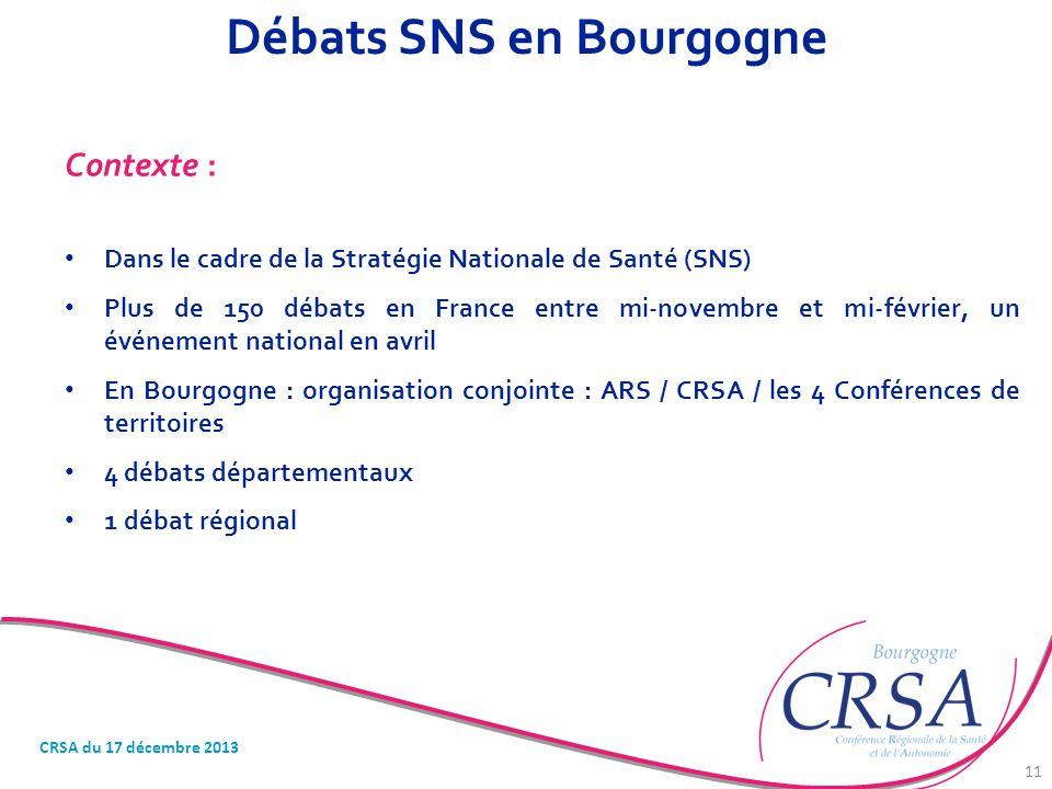 Débats SNS en Bourgogne