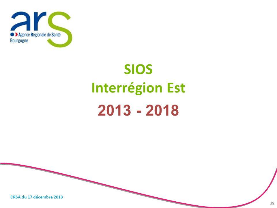 SIOS Interrégion Est 2013 - 2018 CRSA du 17 décembre 2013