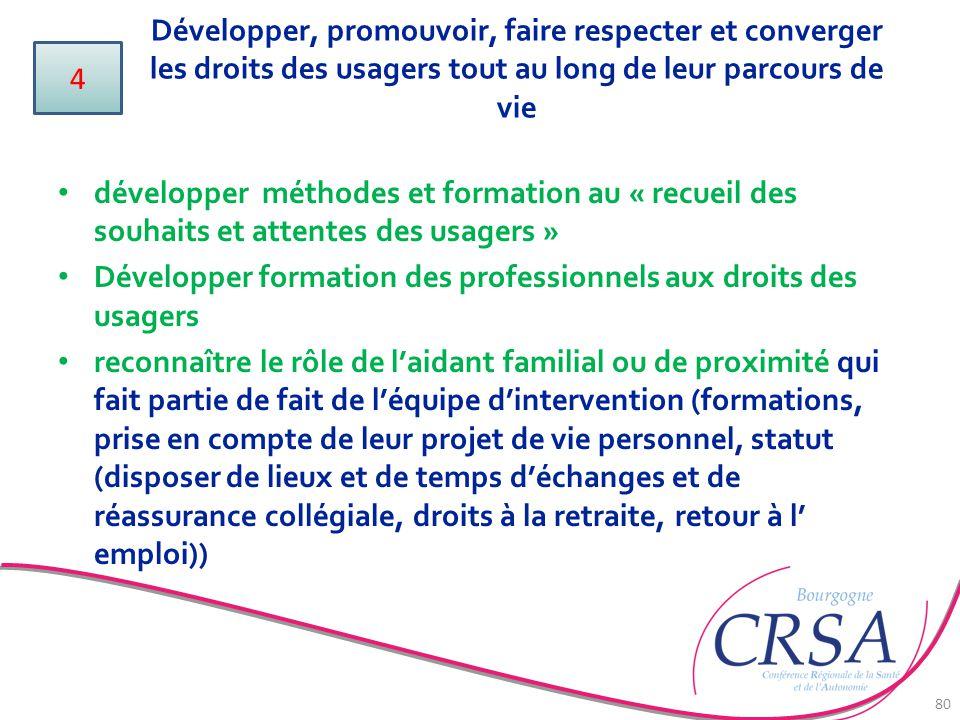 Développer, promouvoir, faire respecter et converger les droits des usagers tout au long de leur parcours de vie