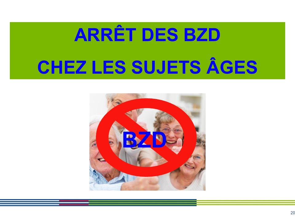 ARRÊT DES BZD CHEZ LES SUJETS ÂGES BZD ARS Bourgogne 20
