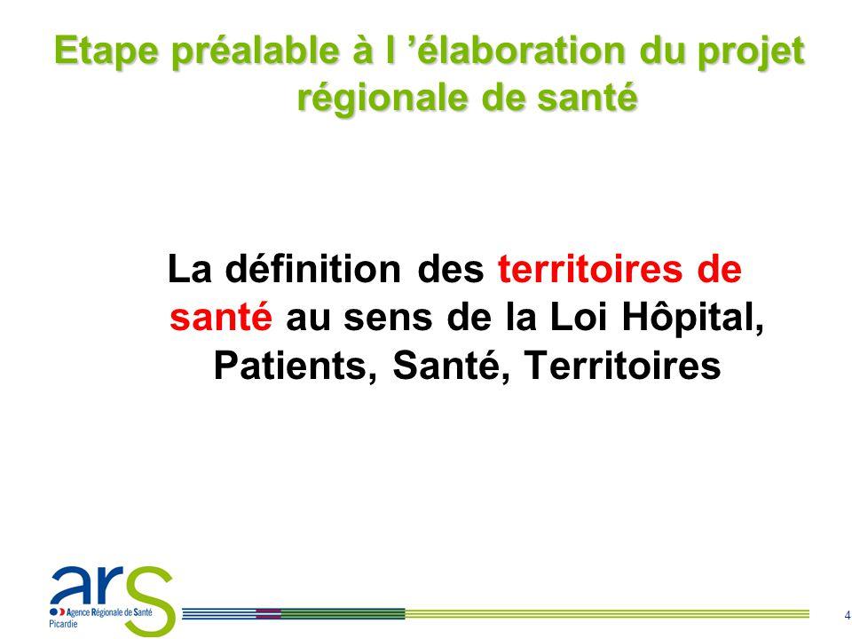Etape préalable à l 'élaboration du projet régionale de santé