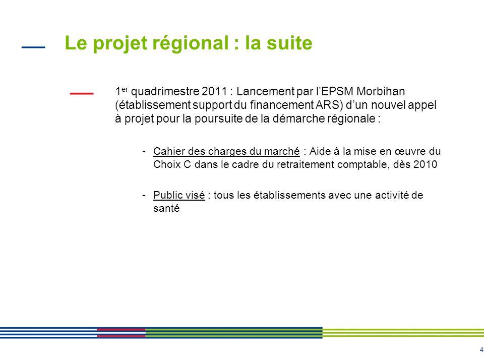 Le projet régional : la suite